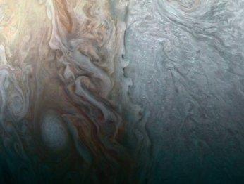Завораживающий снимок гигантского вихря наЮпитере