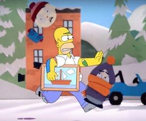 Гомер Симпсон встретился с героями South Park и «Робоцыпа»