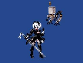 Как выгляделабы Nier: Automata, еслибы была ретро-игрой