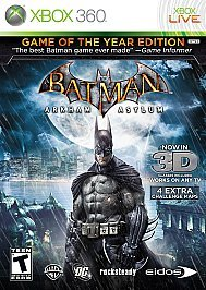 Обложка Batman: Arkham Asylum: Game of the Year Edition