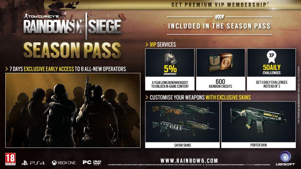 Ubisoft представила Season Pass для Rainbow Six Siege - Изображение 1