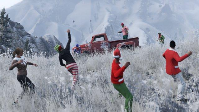 В Grand Theft Auto Online разрешили бросаться снежками - Изображение 1