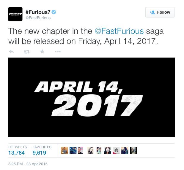 Восьмой «Форсаж» выйдет в 2017 году - Изображение 1