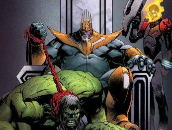Космический Призрачный гонщик иКороль Танос избудущего. Что такое Thanos Wins