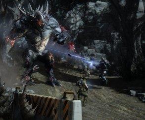 Охотники расстреливают чудовищ на новых кадрах из Evolve