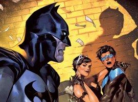 Бэтмен, Женщина-кошка, Харли Квинн имного романтики вспециальном праздничном выпуске