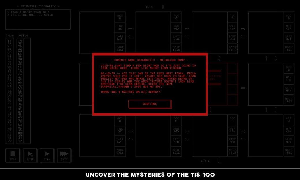 В Steam появилась TIS-100: игра про программирование на ассемблере | Канобу - Изображение 6012