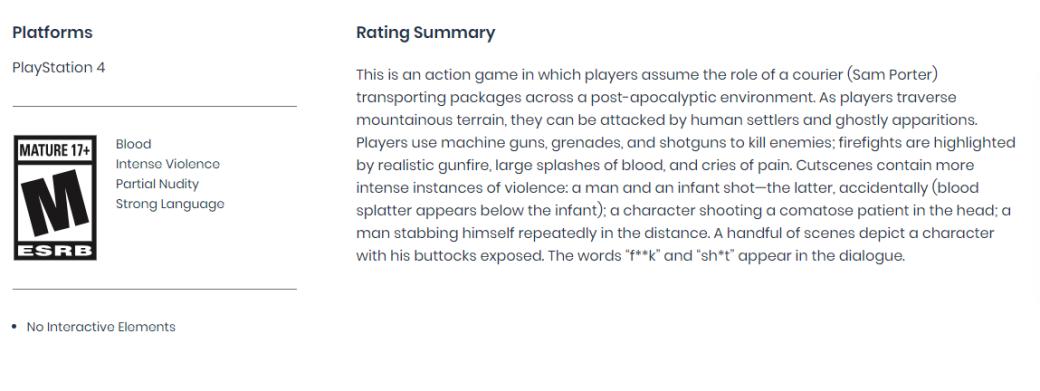 Death Stranding получила «жесткий» рейтинг. Есть описания жутких сцен | Канобу - Изображение 2850