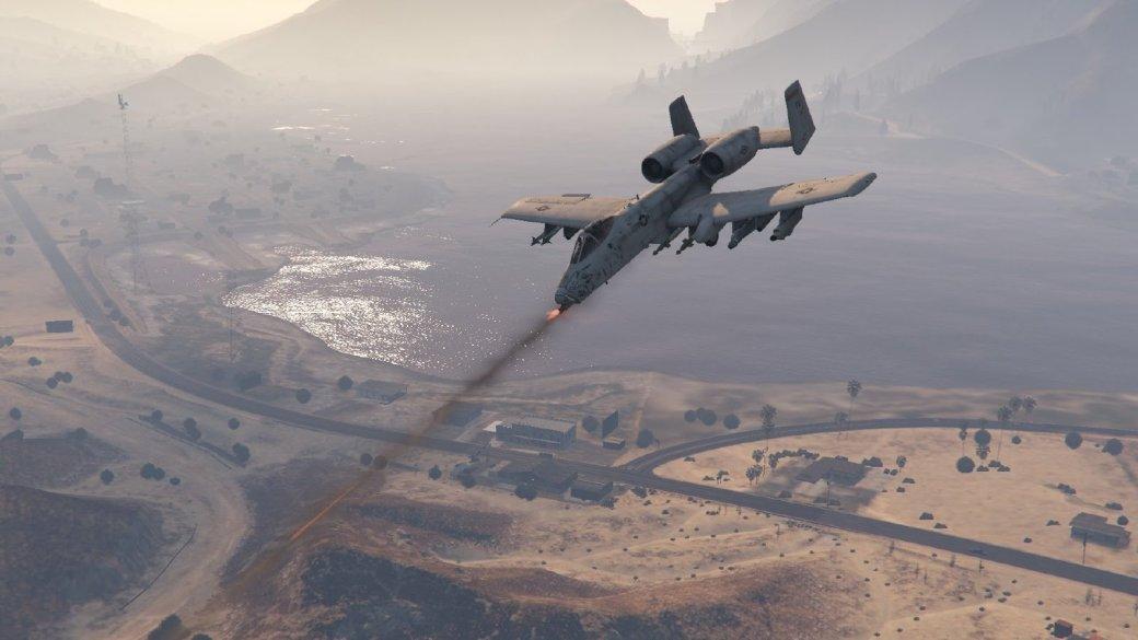Гифка дня: филигранная точность посадки истребителя вGrand Theft Auto5 | Канобу - Изображение 1