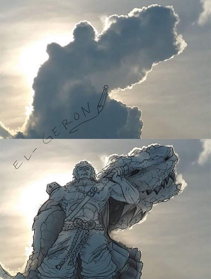 Пользователи сети разглядели в облаке образы Сайтамы и Рикардо Милоса. А что видите вы?  | Канобу - Изображение 4358