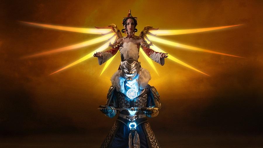 I need healing: красочный косплей Ангела и Гэндзи из Overwatch | Канобу - Изображение 1