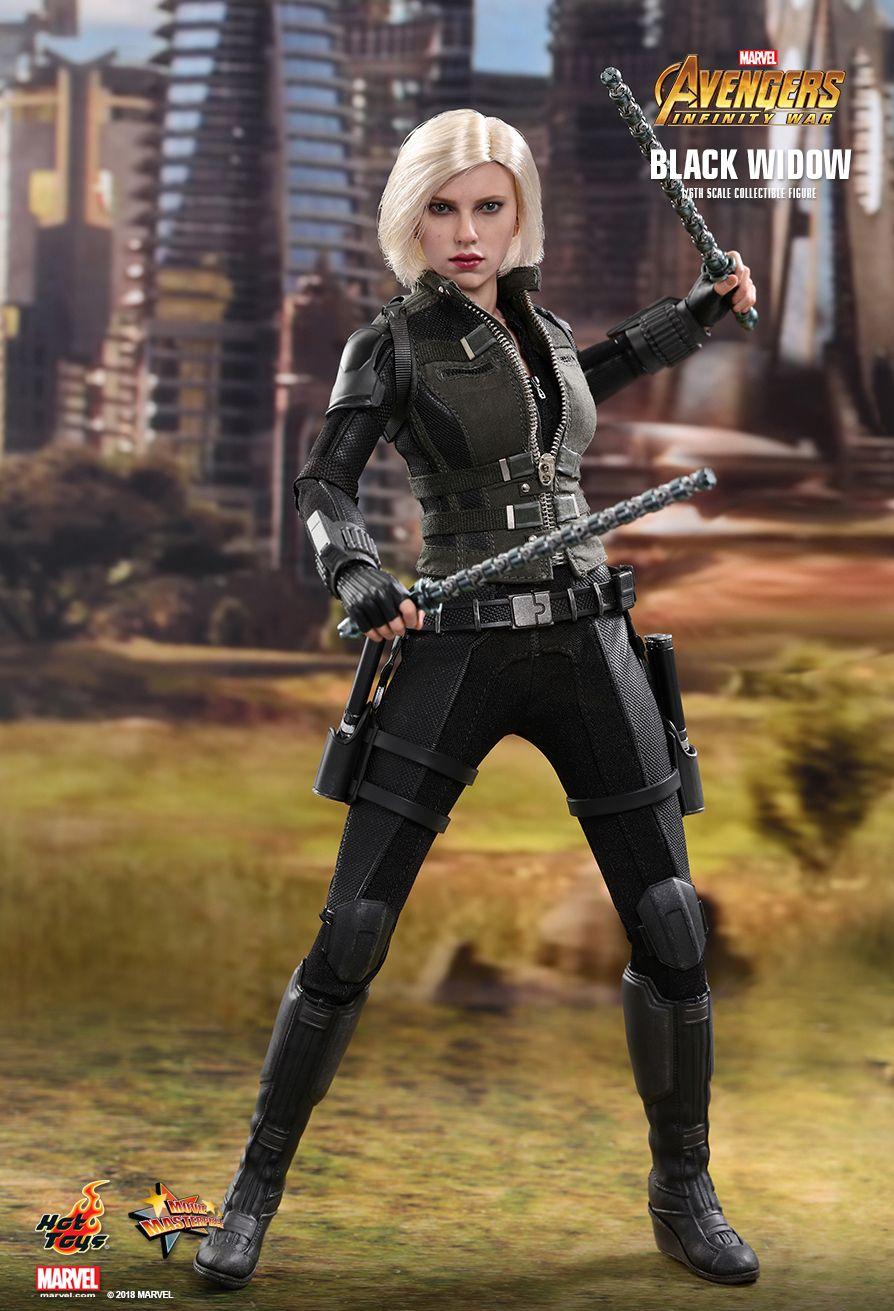 Фигурка Черной вдовы из «Войны Бесконечности» от Hot Toys. Ее можно расчесывать как Барби!. - Изображение 3
